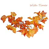 SILIVN Fall Decor, Christmas Decorations Lighted Fall Garland | 8.2 Feet | 20 Lights (with Timer)