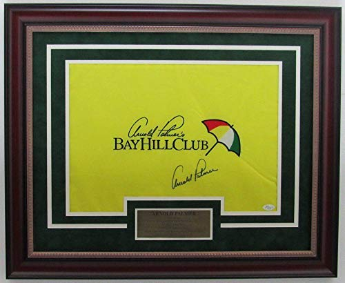 Arnold Palmer Signed/Autographed Bay Hill Club Framed Pin Flag 139684 JSA Certified Autographed Pin Flags