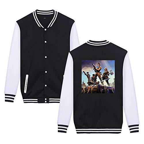 Unicorno Moda Giacca Black4 Leggera Sweatshirts Da Fortnite Casual Unisex Aivosen Comode Semplice Baseball Stampate 1w8EEq