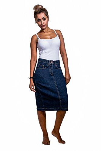 Stretch Denim Straight Skirt - 6