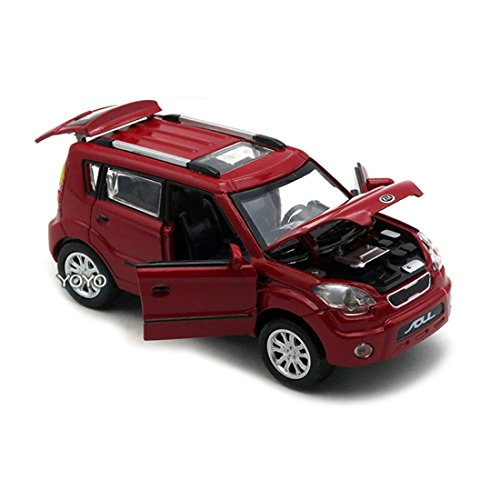 KMT Alloy Diecast Car Models KIA Soul Model Cars (Red) by KMT