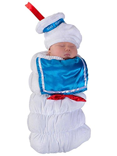 Princess Paradise Baby Ghostbusters Stay Puft Swaddle Deluxe Costume, As Shown, 0/3M