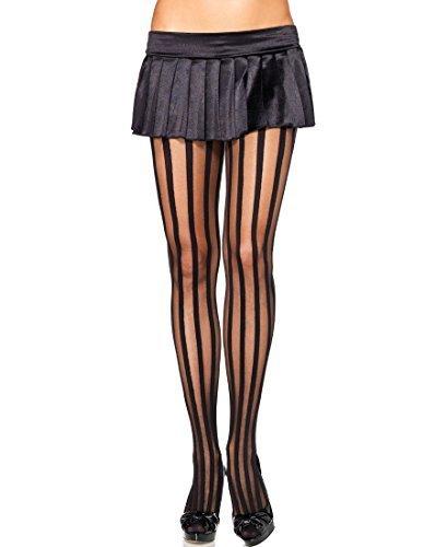 colore nero taglia M Collant a righe verticali Sock Snob