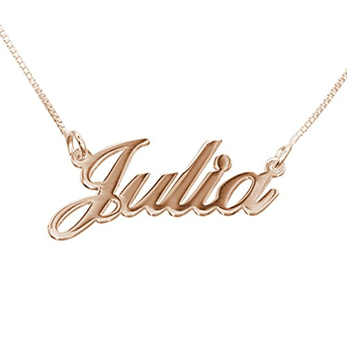 Personalized Small Name Necklace Rose Gold - Custom Pendant - Gift for Her