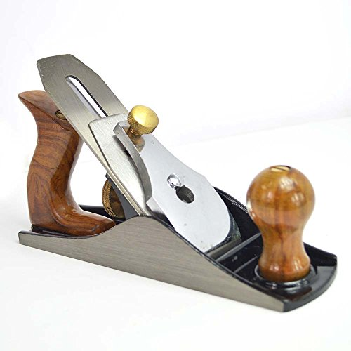 Big Horn 19316 9-Inch Adjustable Smoothing Bench Jack Plane No. 4 with 2