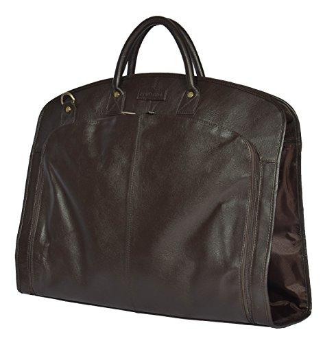 Wahrer Luxus Leder Kleidersack Reise Kleidbeutel HOL933 Braun