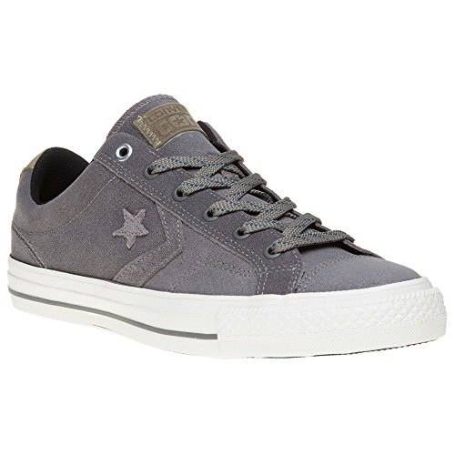 Converse Star Player Premium Leather Ox Mens Sneakers Grey
