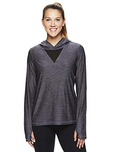 (HEAD Women's Lightweight Pullover Hoodie - Workout & Running Athletic Sweatshirt - Stadium Medium Grey Heather, Medium)