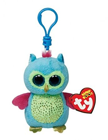 d7375e469b3 Amazon.com  Ty Beanie Boos Opal - Owl Clip (Justice Exclusive)  Toys   Games