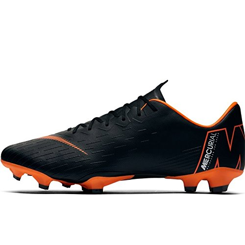 Nike Men's Mercurial Vapor XII PRO FG Cleats - (Black/White/Orange) (9) (Nike Vapor Carbon Fly Td Cleats For Sale)