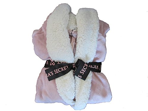 - Victoria's Secret Cozy Sherpa Lined Hooded Long Robe - Lilac Pink- M/L