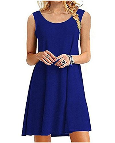 GABREBI Womens T Shirt Sleeveless Dresses