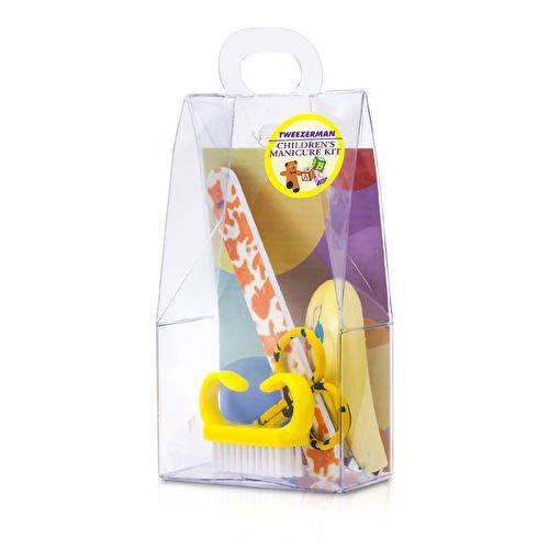 Tweezerman Children's Care Kit: Baby Nail Clipper+ Baby Nail File+ Nail Brush+ Baby Nail Scissors, 4 Count