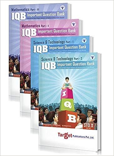 Std 10th IQB Maths and Science Books, English Medium Maharashtra