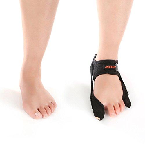 Aider Bunion Support, Comprehensive Bunion Corrector & Bunion Relief ToePal kit-5 Piece Hallux Valgus & Bunion Pads, Toe Spacers, Toe Separators, Bunion Splint, Toe Straightener (Left (black)) by Aider (Image #7)