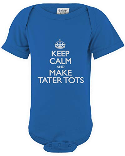 - shirtloco Baby Keep Calm and Tater Tots Infant Bodysuit, Royal 24 Months