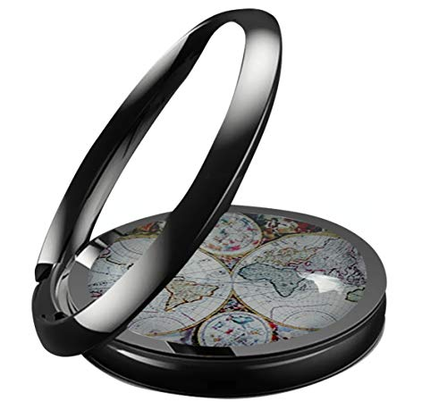 Baoquan Antique-World-Map Custom Finger Ring Stand Cell Phone Ring Holder 360 Degree Rotation Phone Kickstand Compatible with All -