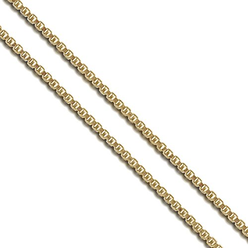 Gold Tone Jewelry Box - Gold-Tone Stainless Steel Box Chain 1.4mm New Solid Square Link Necklace 30