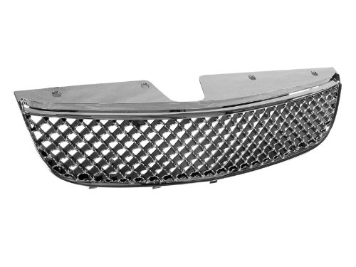 AutobotUSA CHROME HONEYCOMB MESH FRONT HOOD BUMPER GRILL GRILLE COVER ABS 97+ CHEVY MALIBU