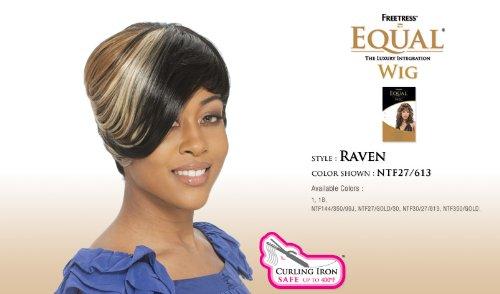 De material sintético cuidado de la peluca - diseño de cuervo Freetress de igual: Amazon.es: Belleza