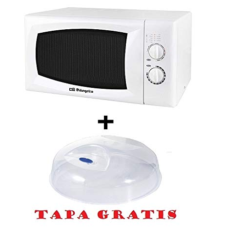 Microondas Orbegozo MIG 3020, 30 L, 5 Niveles, 900 W, Blanco + tapa para micro gratis