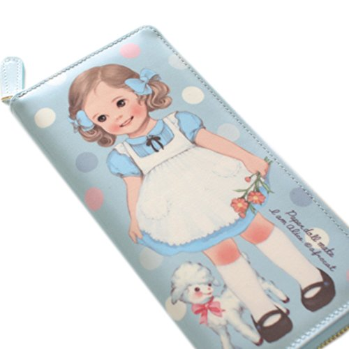 Paper Doll Mate (Afrocat Paper Doll Mate Oil Cloth Wallet Purse Alice Blue)