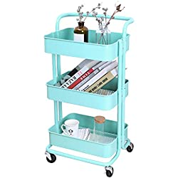 3-Tier Metal Storage Utility Cart