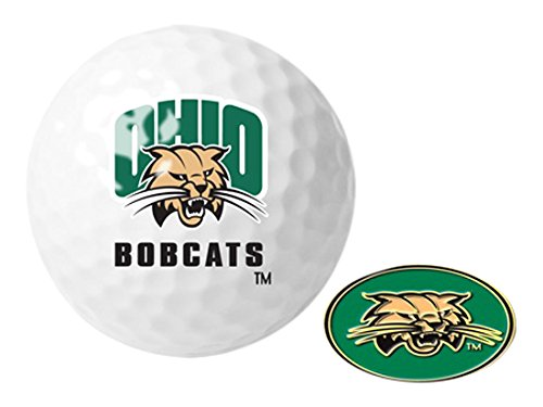 - NCAA Ohio University Bobcats - Golf Ball One Pack with Marker