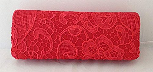 Red YA Evening by Party Prom Women's Floral Bag Satin NA Clutch Purse JIAN lady Lace Flower bridal Handbag 0xxYqwBZTn