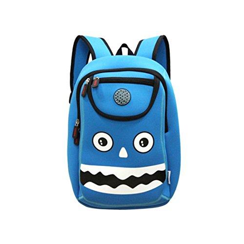 Kids monster Backpack 3D Cute Zoo Cartoon School Boys Girls Bags