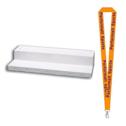 Champion Sports Youth League Step Down Pitcher's Rubber White Bundle with 1 Performall Lanyard BH72-1P by Champion Sports