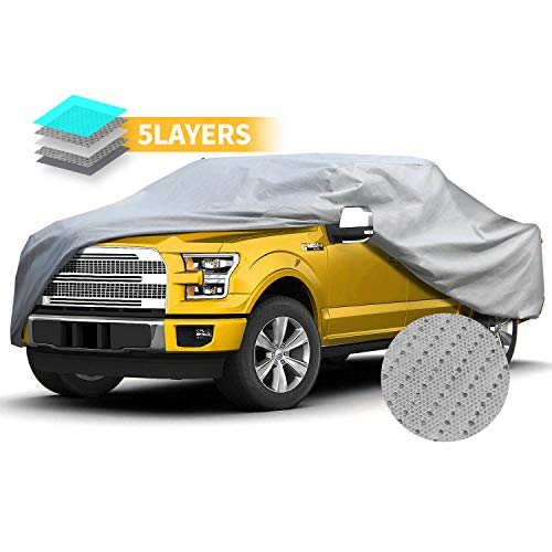 (Truck Cover Pick Up Long Bed Full Size Cover Windproof Waterproof All Weather for Outdoor Extended Cab Truck Cover UV Protection, Universal Fit Car Covers for Truck Covers 248