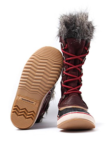 Sorel Women's Joan of Arctic Boots Redwood/Red Element G7TTRcja