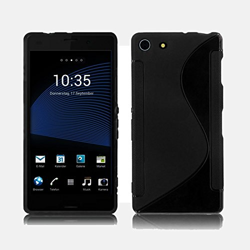 Aobiny Silicone Skin Phone Case Mobile Cover For Sony XPERIA Z3 Mimi Compact (Black)