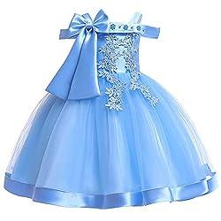 Girls Formal Flower Girl Ruffles Dress