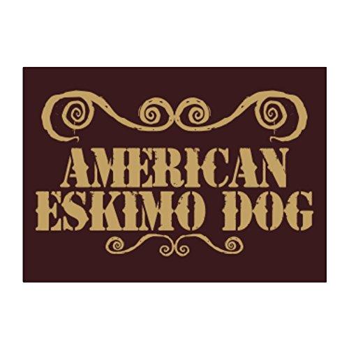 Teeburon American Eskimo Dog ORNAMENTS URBAN STYLE Pack of 4 (Eskimo Ornament)