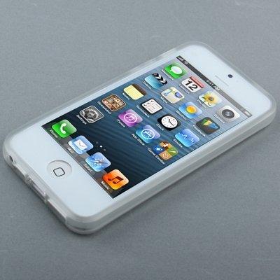 Mxnet QYG Q-case Alta calidad translúcida helada TPU caso de protección con las teclas para iPhone 5 & 5s & SE Fundas ( SKU : S-IP5G-0405Y ) S-IP5G-0405T
