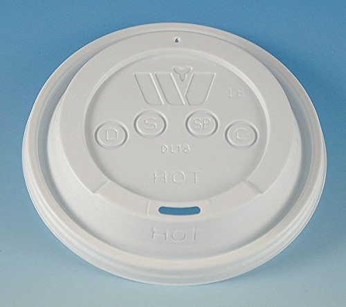(Wincup DL18 Sip-Thru Lid for 12 oz to 24 oz Foam Cups, Cube 1.59, White (10 Sleeves of 100)