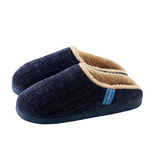 Accueil Chaussures Garder Navy Intérieur Tongues Chaud SFHK Épais Hiver Antidérapant Couple Chaussons Unisexe Bas Coton Poilu wxw4qBH