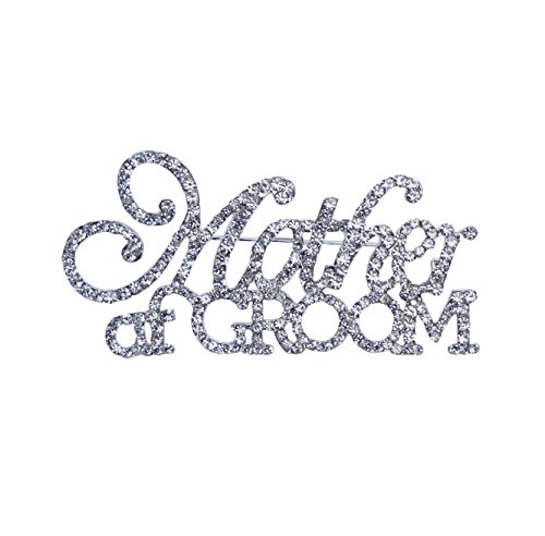 Unik Occasions Mother of the Bride & Mother of the Groom Rhinestone Pin Set in Silver by Unik Occasions (Image #2)