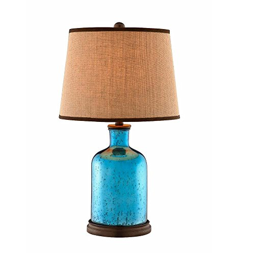 Stein World Furniture Glass Table Lamp, Blue, Brown