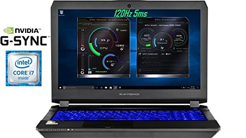 "Eluktronics Pro-X P650HS-G VR Ready 15.6"" 120Hz 5ms Gamers Edition Laptop PC - Intel i7-7700HQ Quad Core Win 10 Home 8GB GDDR5 NVIDIA GeForce GTX 1070 + G-SYNC 512GB PCIe NVMe SSD 32GB DDR4 RAM"