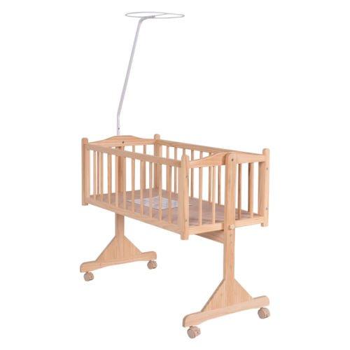 Wood Baby Crib Rocking Cradle Newborn Bassinet Bed Sleeper Portable Nursery Blue by Nikkycozie (Image #4)