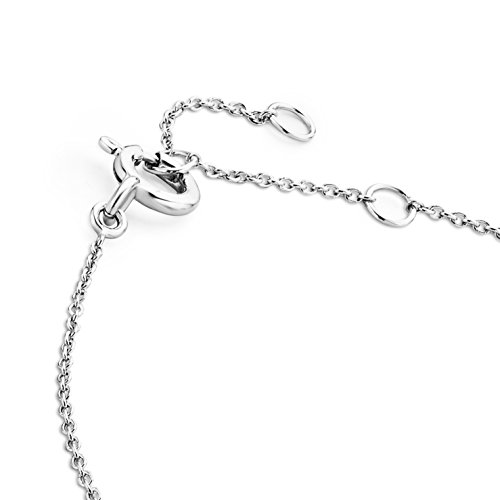 Miore - Bracelet extensible - Or blanc 9 cts - Diamant 0.1 cts - 18 cm - MY033B