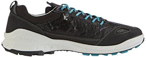 Ecco ECCO BIOM TRAIL FL MEN'S - Zapatillas De Deporte Para Exterior de piel hombre Negro (BLACK/BLACK/PAGODA BLUE58932)