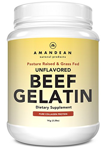 Premium Grass Fed Beef Gelatin Powder (XL 2.2lbs) | Unflavored | Anti-Aging Collagen Protein Supplement | 18 Amino Acids for Healthy Skin, Hair, Joints, Gut | Keto Friendly | Gluten Free & Non GMO