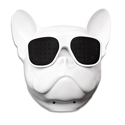 Bulldog Speaker Portable Bluetooth Speakers 8W Output Bass Stereo Personalized Cool Artistic Wireless Speaker for Home Party Cafe Bar Compatible for Desktop PC/Laptop/Mobile Phone (White) by DORNLAT