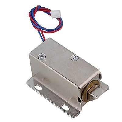 CNBTR DC 12V Open Frame Type Down Tongue Solenoid Electric Door Lock