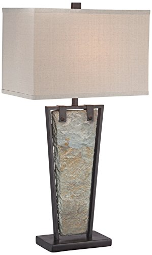 Asian Metal Table Lamp - 6