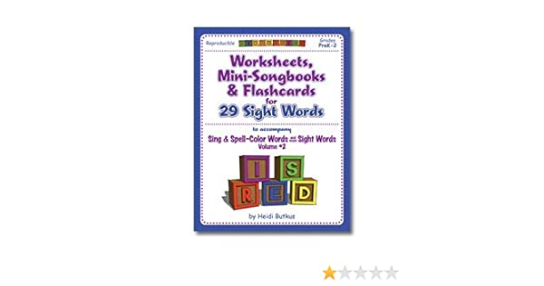 Sing & Spell Vol. 2 Workbook: Heidi Butkus: 9781938553080: Amazon ...